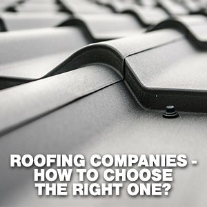 Roofing Companies - How To Choose The Best One?