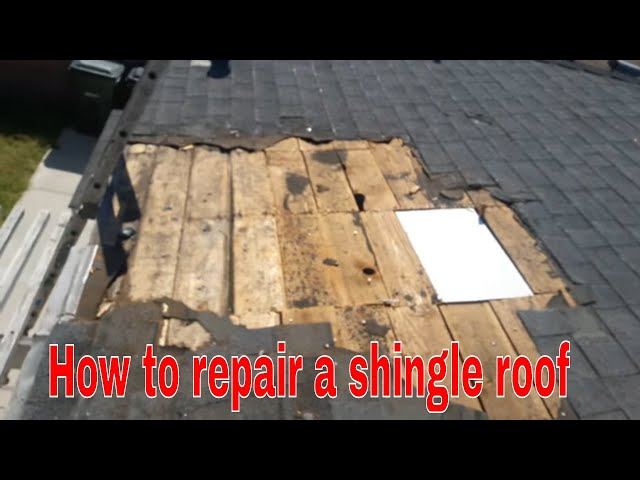 How To Repair A Leaking Shingle Roof Diy Simple And Easy